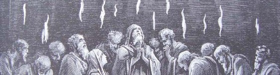 gravure dore bible - la pentecote