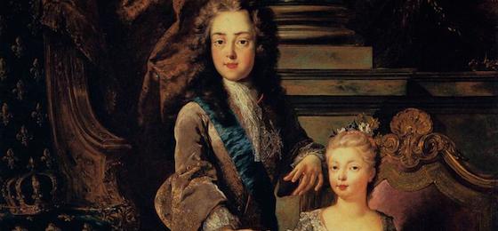 Louis XV et Marie Anne Victoire Infante d'Espagne