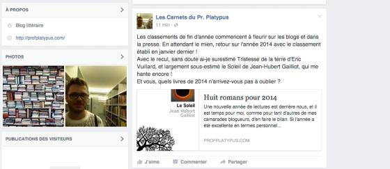blog sur facebook
